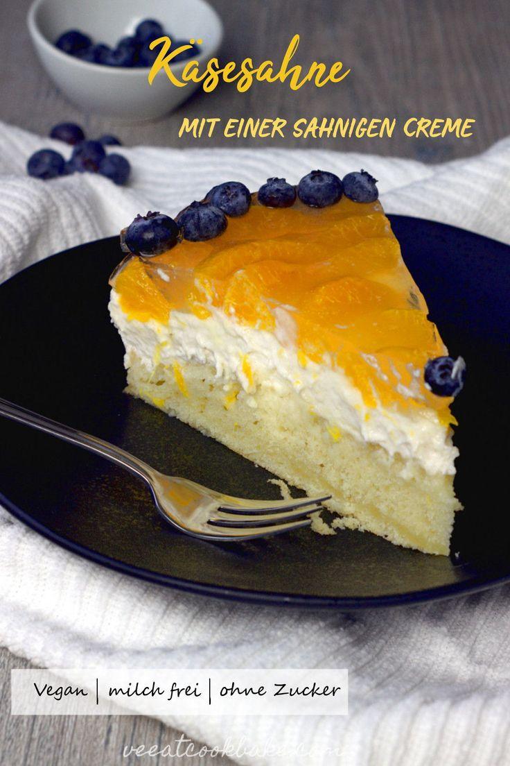 Vegane Mandarinen Quark Sahne Torte