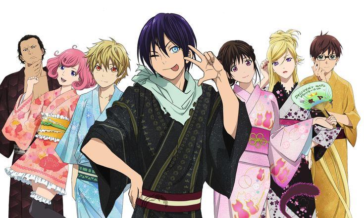 Daikoku, Kofuku, Yukine, Yato, Hiyori, Bishamon and Kazuma. #Noragami