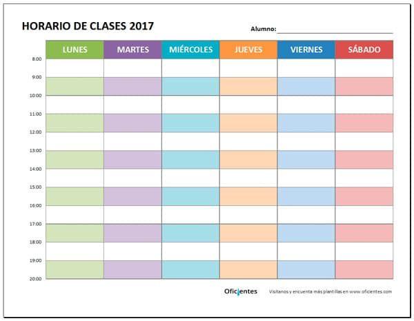 Plantilla Horario De Clases Bonito Horario De Clases Plantilla Horario Escolar Plantillas Horarios