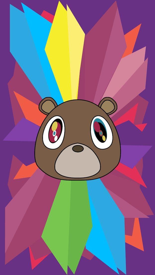 Kanye West Mascot Multi Color Wallpaper Kanye West Wallpaper Bear Wallpaper Kanye West Graduation Bear