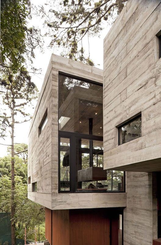 Hillside retreat, architecture & nature, Guatamala vacation home. use of concrete