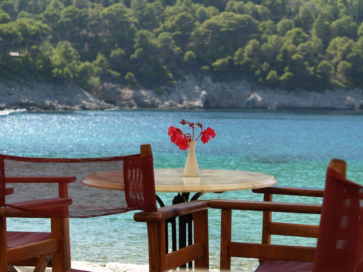 #lunch anybody? Beautiful #assos #kefalonia So many places invite you to stop, sit down and eat or drink something and the ultra friendly taverna owners make you want to stay and eat and drink more. Nothing happens in a  hurry on Kefalonia and nor should it