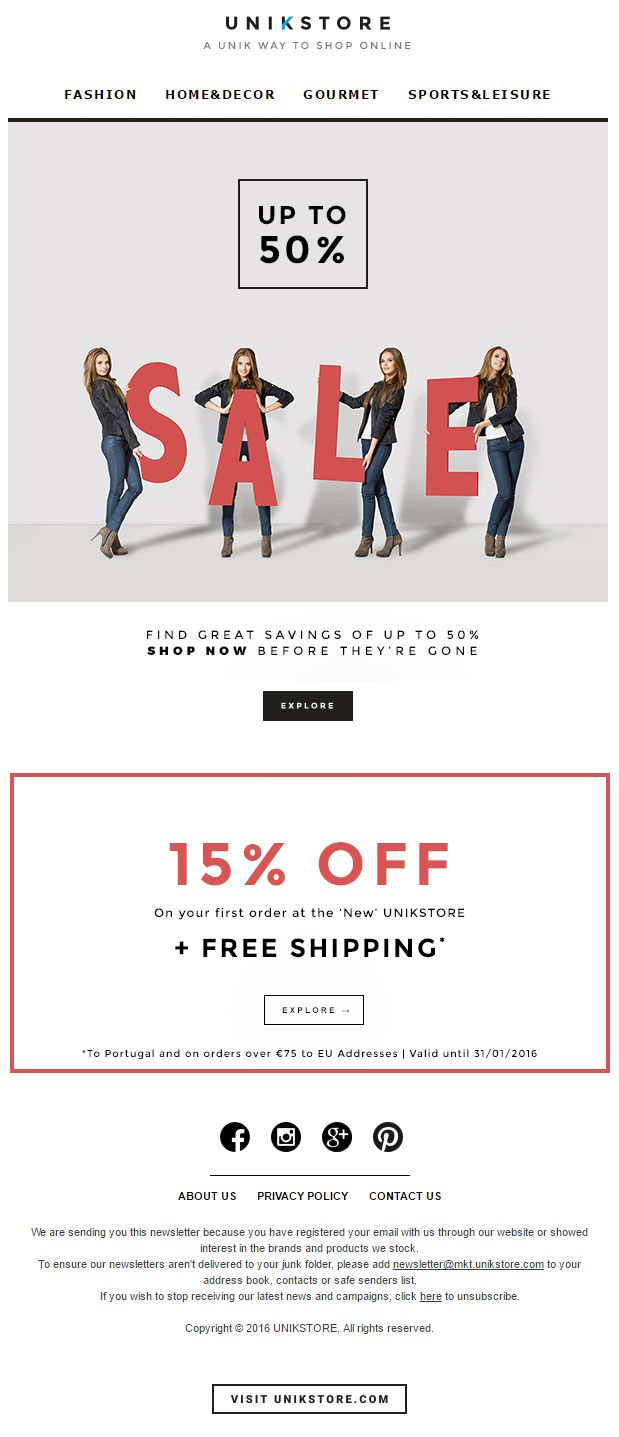 SALE + 15% off + Free Shipping | 2016 January