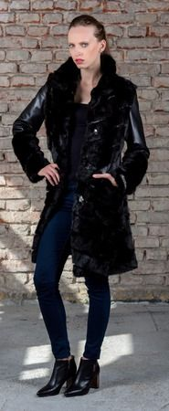SC  coat is a combination of fine leather and soft fur from flying squirrel.
