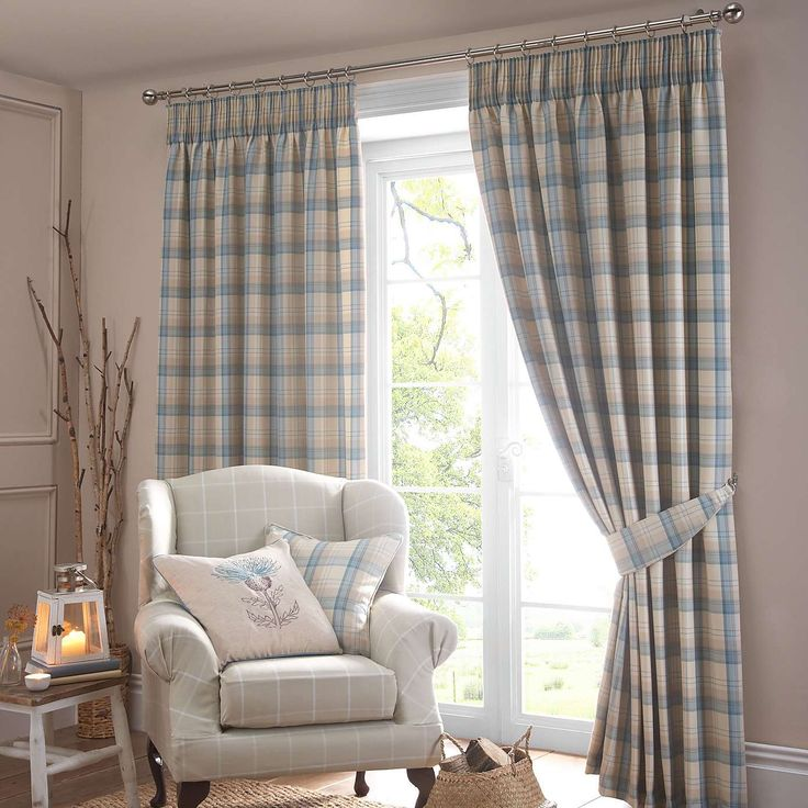 Balmoral Duck-Egg Lined Pencil Pleat Curtains | Dunelm