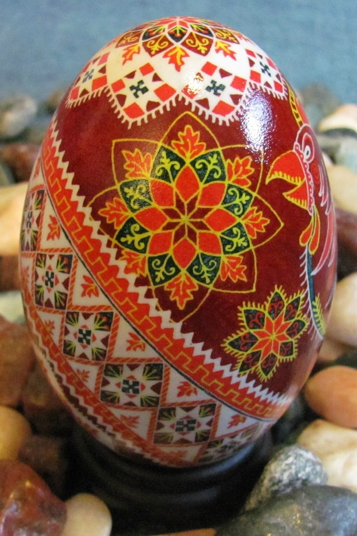 Pysanka (Easter egg)-a piece of Ukrainian art to you, from