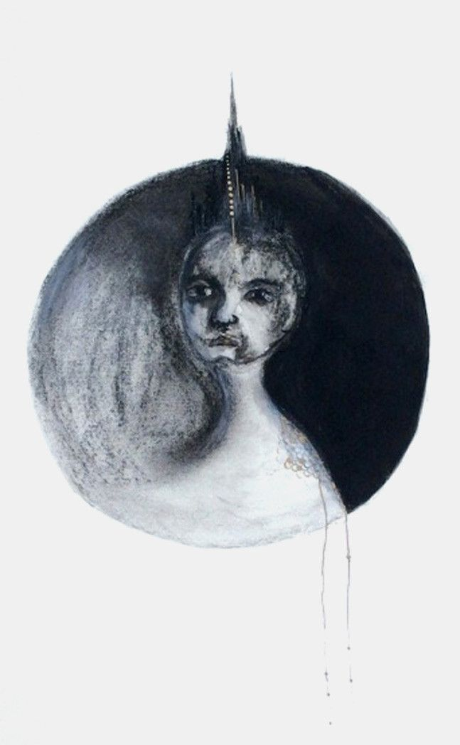 Charcoal, watercolour and acrylic, framed 42 x 53 cm Eleanor Rex
