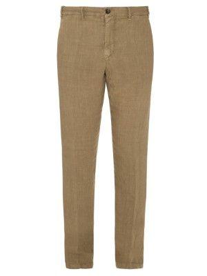 J.W. Brine Mike slim-leg linen trousers