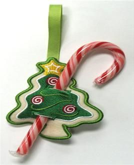 Machine Embroidery Designs at Embroidery Library! - Candy Cane & Lollipop Holders (In-the-Hoop)