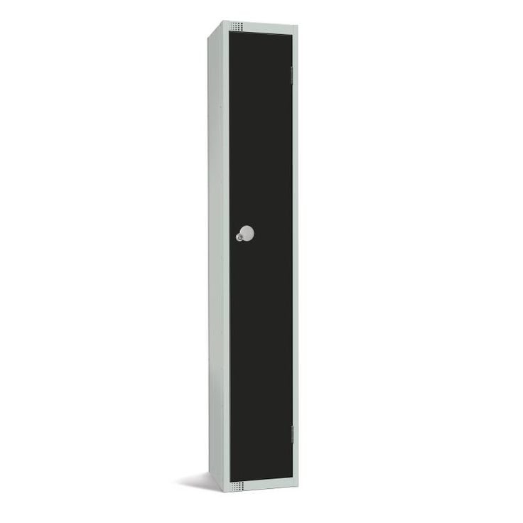 Elite Single Door Padlock Locker Black - GR670-P