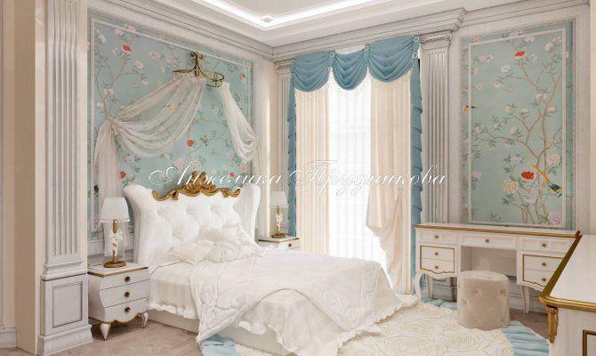 Дизайн детской спальни в классическом стиле в доме в Жуковке. Фото 2017