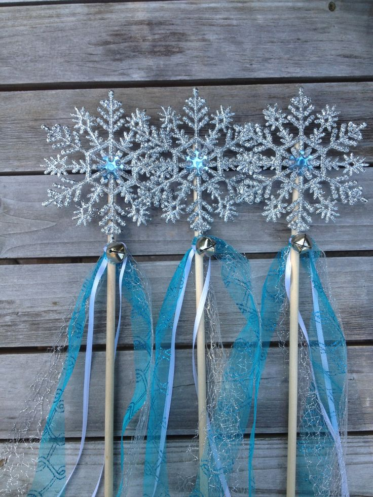 SALE Frozen wands, Snowflake Wands,Elsa Frozen inspired Wand,Wands Frozen Birthday Favors,Frozen Birthday Party, Frozen Decorations, Wands by BellasBloomStudio on Etsy