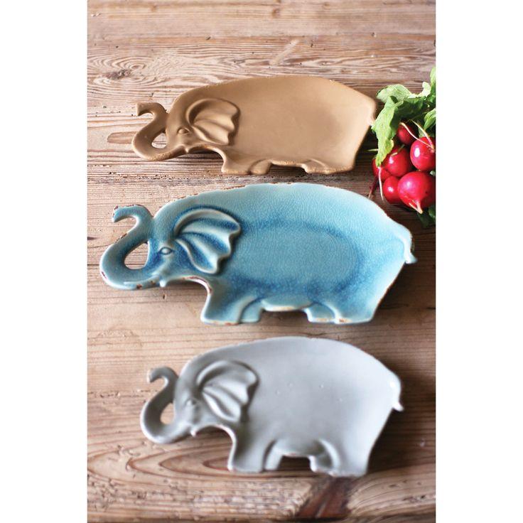 Follow the Leader Elephant Plates - Set of 3