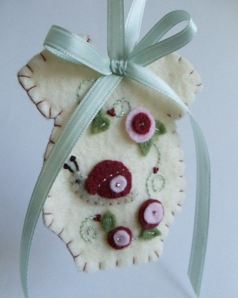 Cutest Ever!    Baby's First Christmas Felt Onesie Ornament by myheartsdesire1871, $19.50