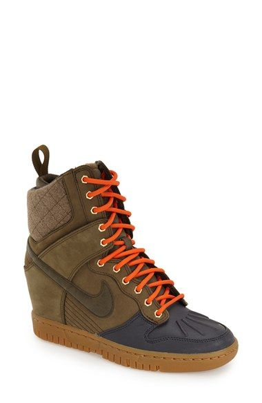 Nike 'Dunk Sky Hi' Wedge Sneaker (Women) available at #Nordstrom Also in black.