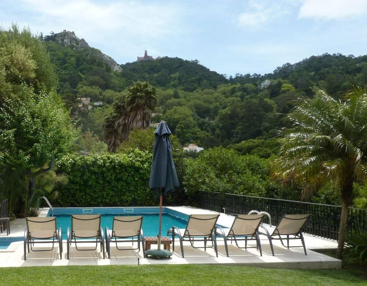Casa do Valle's outdoor pool. Great on those hot days and if you are not a big fan of sand. #bedandbreakfast #Sintra #Portugal #outdoorpool #poolwithaview