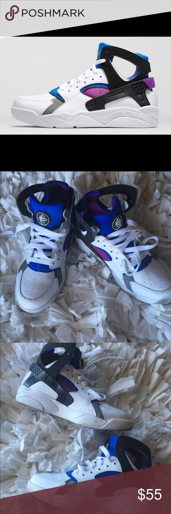 Nike Air Flight Huaraches Nike High Top Huaraches//Size 6Y//No box//Shoes have been worn so bottom of shoes DO show signs of wear but, can be easily cleaned again//Very small scratch on back of Right shoe(pictured). Nike Shoes Athletic Shoes