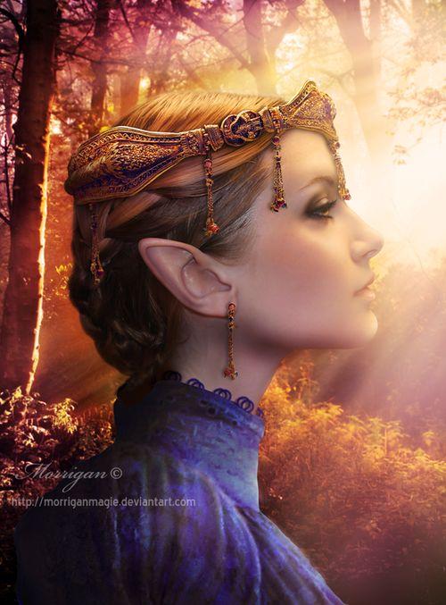A fey princess wearing her crown?