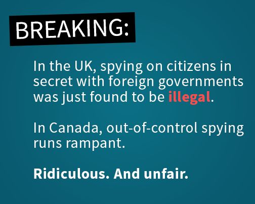 As other countries make progress reining in secret spying, Canada is moving in the wrong direction. Help us fight back: https://OpenMedia.ca/Spyonus?src=pin