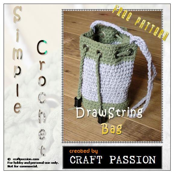 Crochet Drawstring Bag - Free Pattern Bags, Drawstring ...