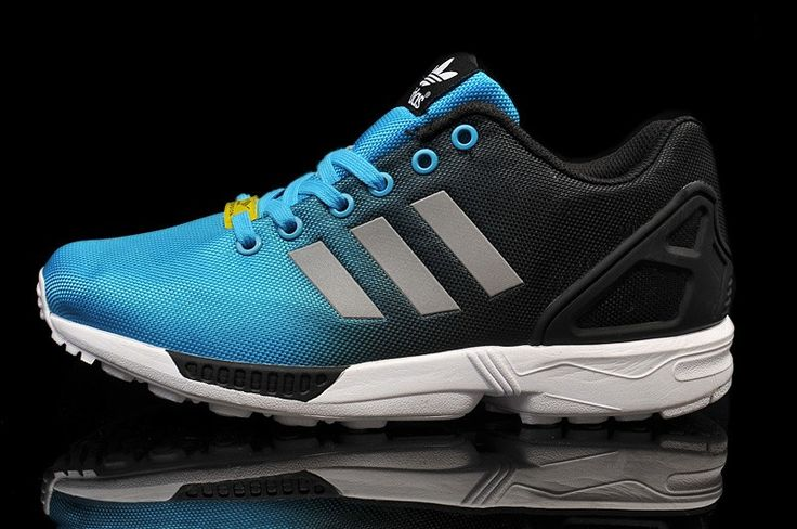 Shoe women Adidas Originals ZX Flux blue black grey HOT SALE! HOT PRICE!