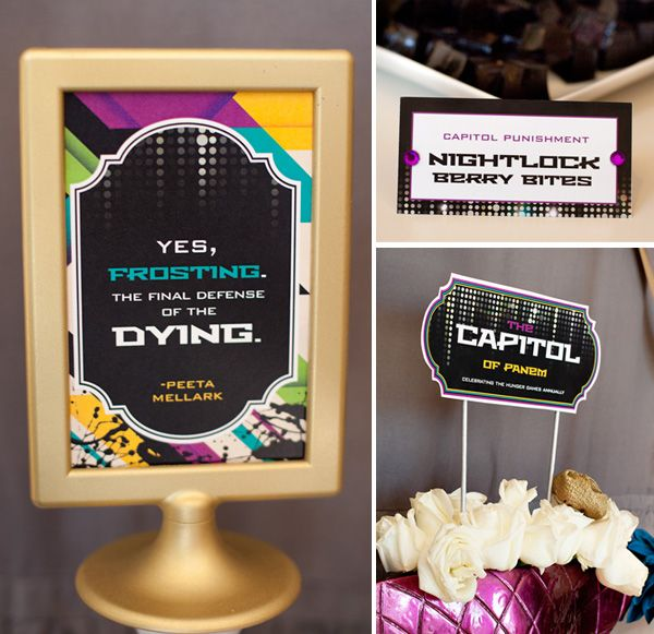 FREE PRINTABLES: Hunger Games Party - Capitol Table // Hostess with the Mostess®