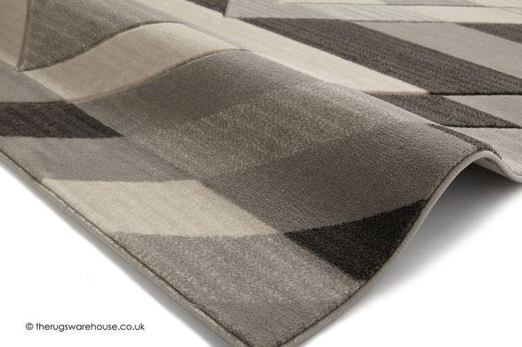 NEW: Sensor Grey Rug (texture close up), a stylish modern synthetic rug in cream & grey with a geometric design (machine-woven, 100% polypropylene, 3 sizes) http://www.therugswarehouse.co.uk/modern-rugs3/brooklyn-pembroke-rugs/sensor-grey-rug.html