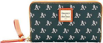 Dooney & Bourke Dooney & Bourke MLB Athletics Zip Around Phone Wristlet