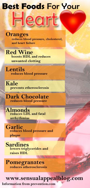 What are the BEST foods for your heart? Find out more and great recipes that use each of these foods at sensualappealblog.com GREAT resource!
