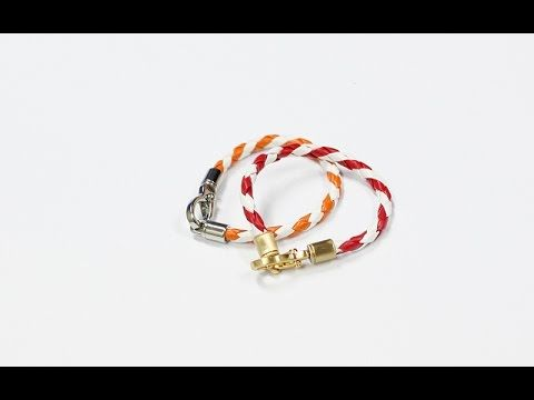 Leather D.I.Y twist bracelet using 4 of leather strap