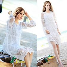 Ladies Boho Lace White Baby Shower Dress Pregnancy maternity Wedding Maxi dress HARGA: 165.155