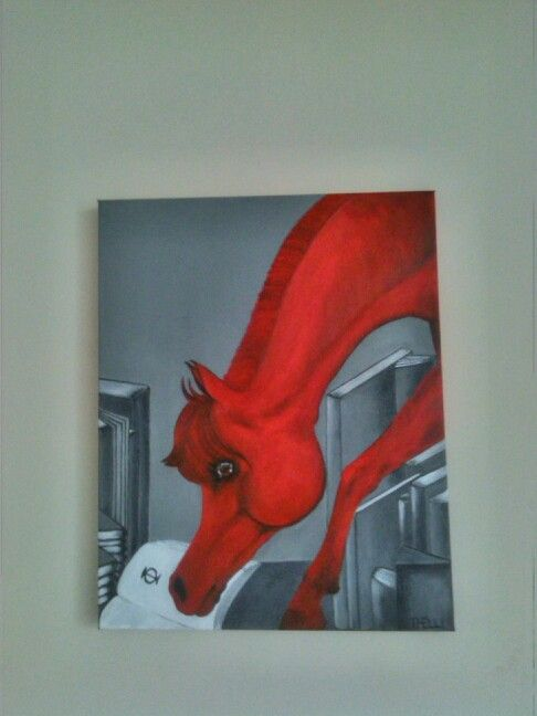 Reading horse - Acrylic on canvas, 50x40.Thelli 2015