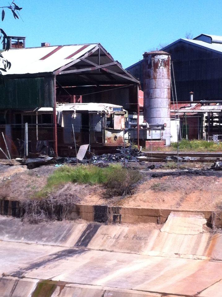 Abandoned trams in Bendigo Australia