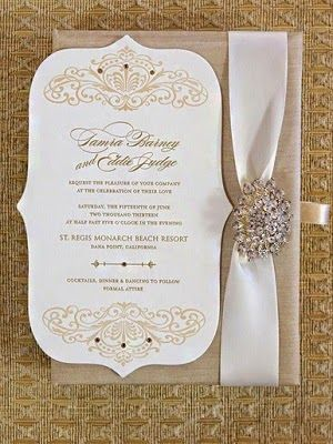 Celebrity Weddings: Tamra Barney's Wedding Invitation #celebrity #wedding #invitations