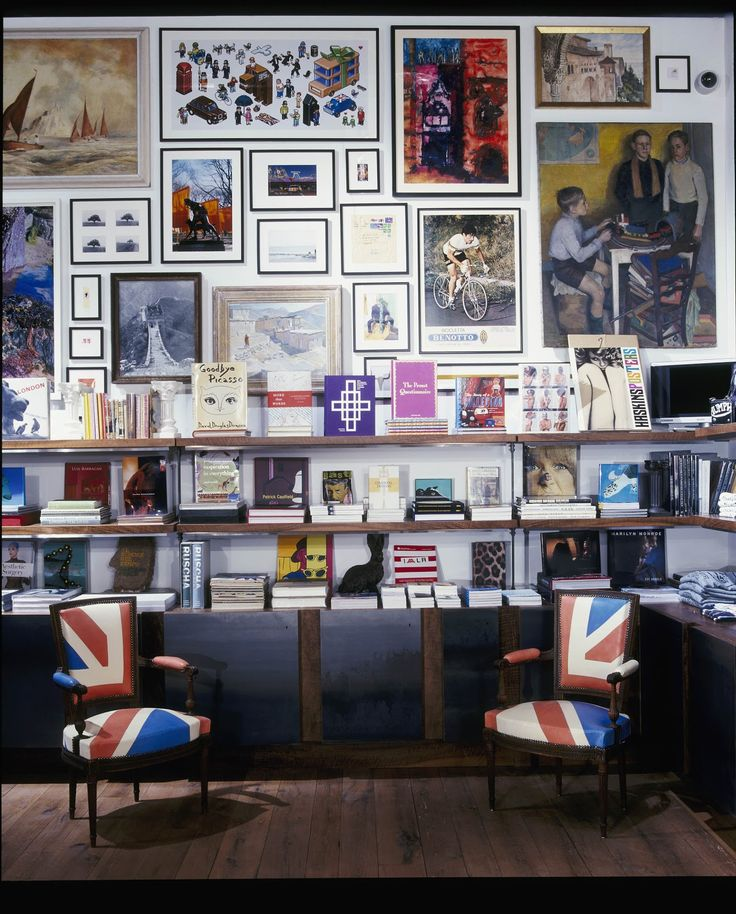 Paul Smith Exhibition at the Design Museum. Love the miss matched art & photos collected over the years