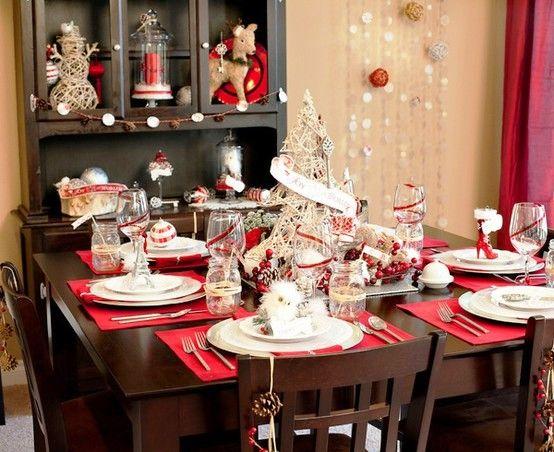 vánoční tabule, vánoční stůl, jak uložit příbory, prostírání, servírování