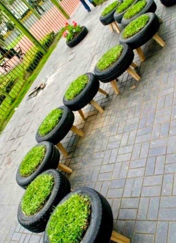Emérita Desastre: Ideas para reciclar neumáticos viejos …