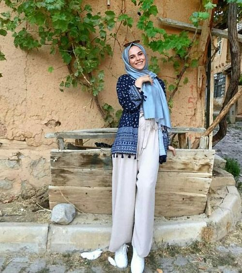 palazzo pants with hijab-Hijab style 2017 – Just Trendy Girls