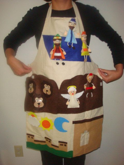 Daniel in the Lions Den Story Time Apron. $30.00, via Etsy.