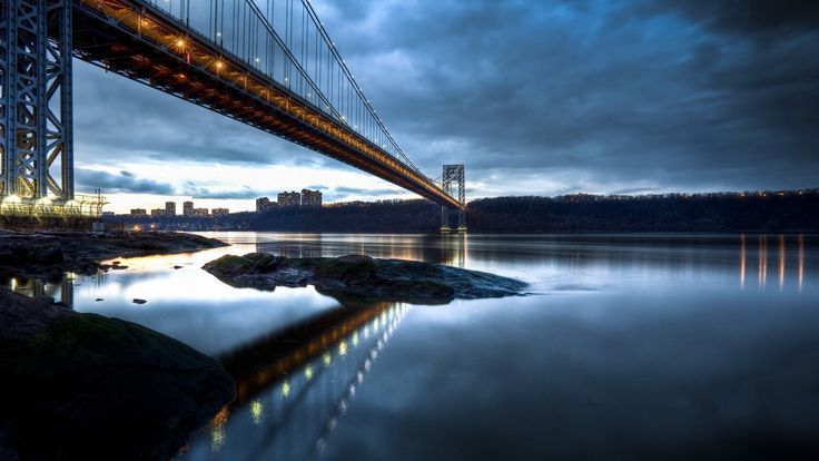 beautiful pictures of george washington bridge