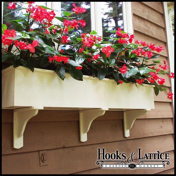 Wooden Window Boxes, Wooden Flower Box, Wood Window Boxes | Hooks ...