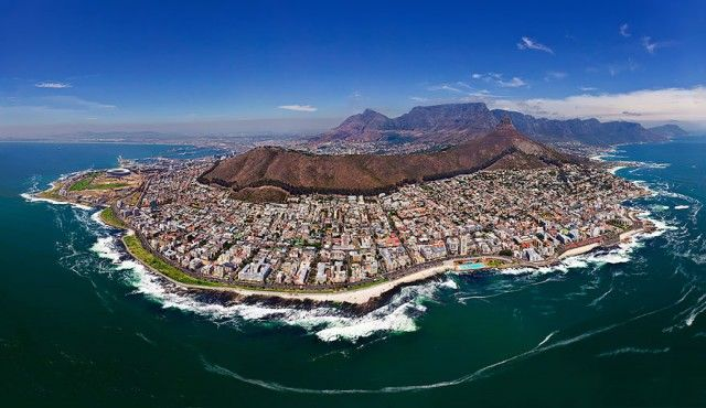 Capetown, South Africa TOp View Drone Photography