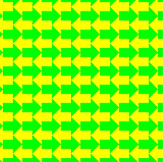 What color do you see the arrows in?Arrows Dominant Color Illusions