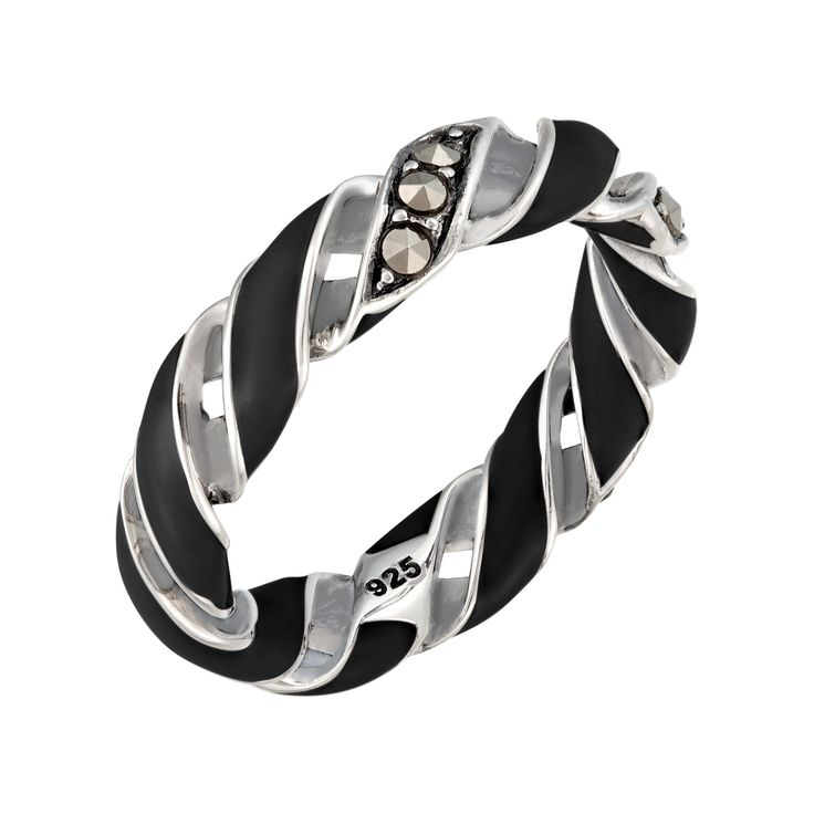 Medium Reef Ribbon Ring: The Stardust Pavé Jewelry Collection by Jan Leslie