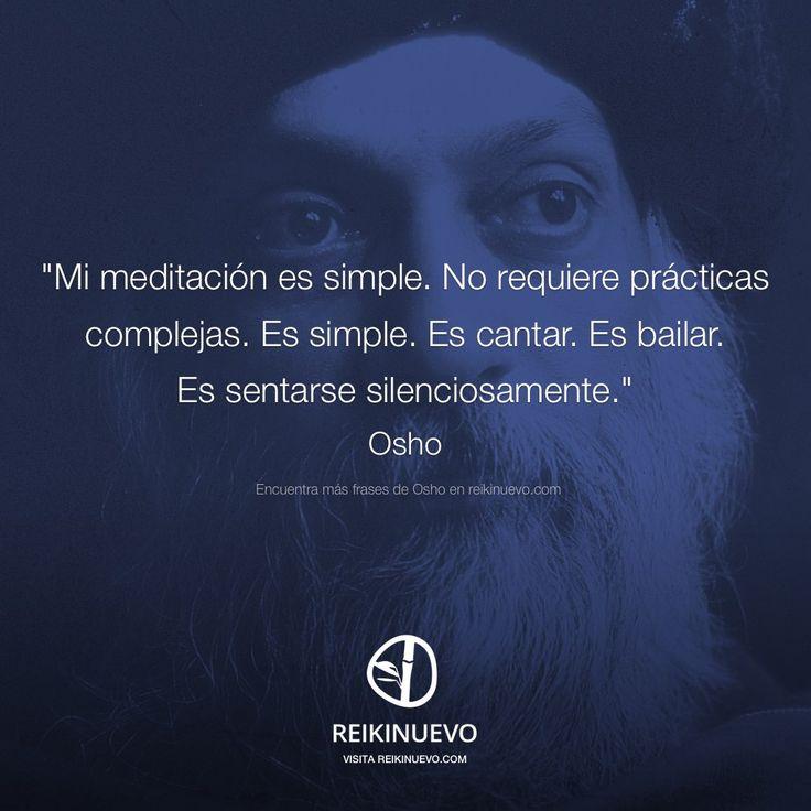 Osho: Mi meditación es simple http://reikinuevo.com/osho-meditacion-simple-2/