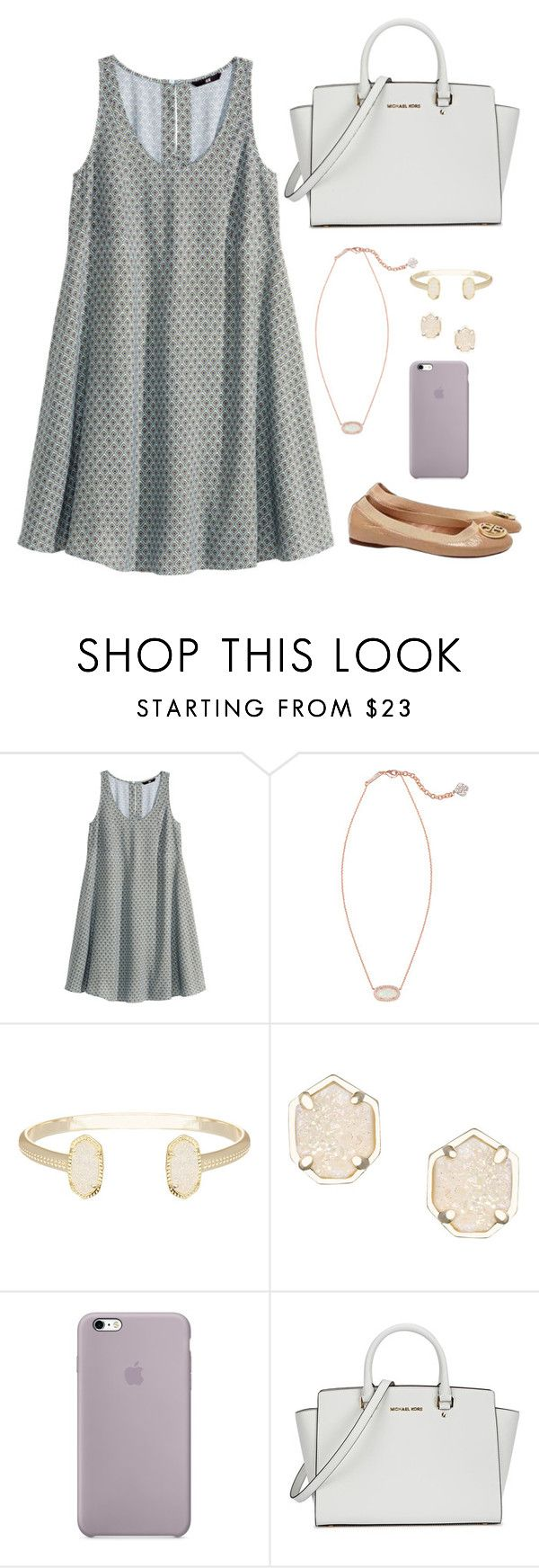""""""""""" by apemb ❤ liked on Polyvore featuring H&M, Kendra Scott, Michael Kors and Tory Burch"""