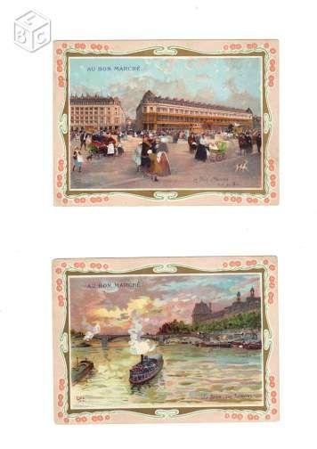 6 Chromos AU BON MARCHE Monuments de Paris #chrisdeparis 36€