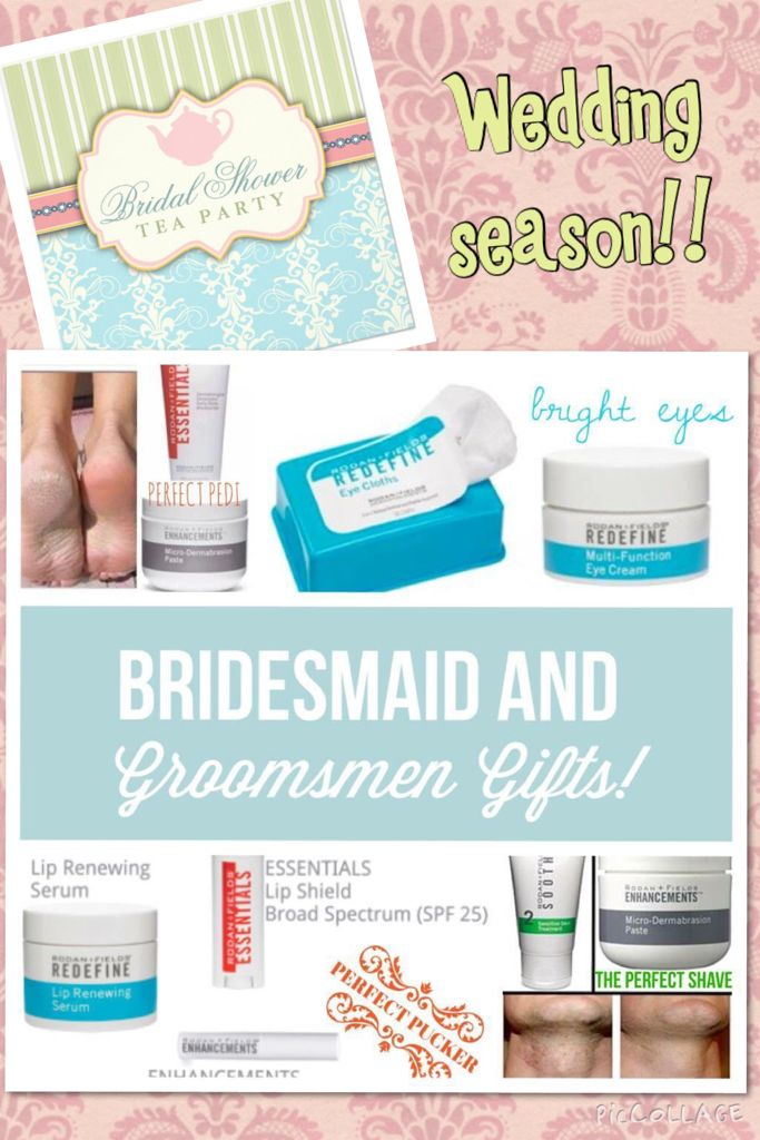 As wedding season approaches and your are trying and trying to think of what to get your bridesmaids, groomsmen, or even the in laws, Rodan+Fields has your back!!!! Message me today and I will get you set!!
