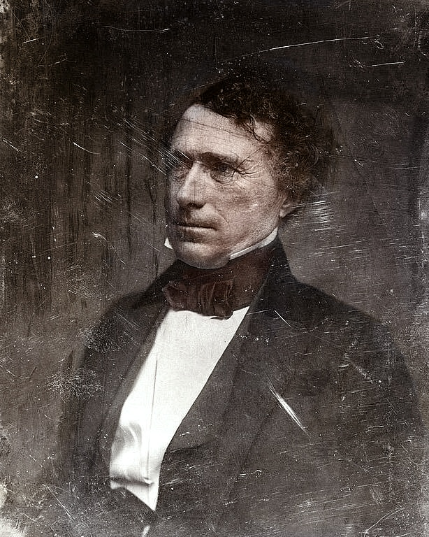 1850 U.S. President Franklin Pierce. As president his support of the Kansas-Nebraska act bitterly divided the country and helped lead to the Civil War