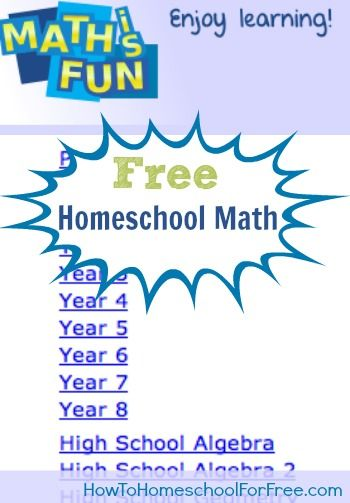 Free Homeschool Math Curriculum: Math is Fun